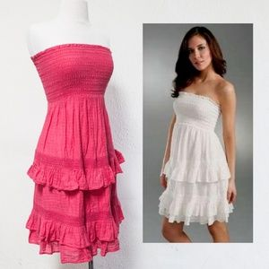 Juicy Couture Dresses - JUICY COUTURE Tiered Strapless Smocked Dress 38d77c1f2
